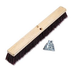 "Floor Brush Head, 3 1/4"" Maroon Stiff Polypropylene,"