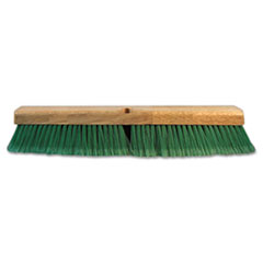 "Push Broom Head, 3"" Green Flagged Recycled PET Plastic,"