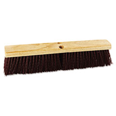 "Floor Brush Head, 18"" Head, Polypropylene Bristles -"