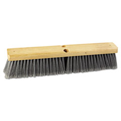 "Floor Brush Head, 18"" Head, Flagged Polypropylene"