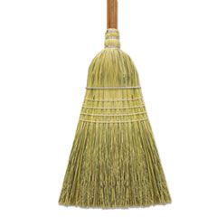 "Corn/Fiber Warehouse Brooms, 60"", Gray/Natural - WAREHOUSE"