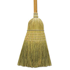 "100% Corn Warehouse Brooms, 60"", Black/Natural -"