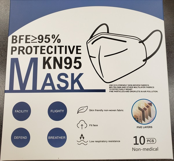 KN95 MASK CE AND FDA CERTIFIED  WRAPPED IN OPP BAG. 10