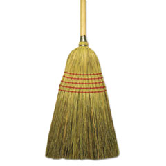 "Corn/Fiber Lobby Brooms, 53.5"", Natural - JANITOR MIX"